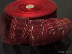 Bordó stuha organzová 25mm MĚNIVÁ organza stužka šifónová AB bordó červená,  á 1m