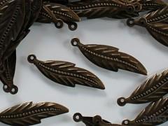 Vintage přívěšek bronzový dlouhé LISTY 31/9/1, bal. 20ks