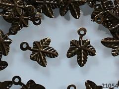 Vintage přívěšek bronzový LISTY 13/10/1, bal. 20ks
