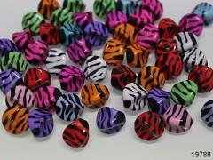 Pestrobarevný MIX korálky zebry vrtulky bal. 5ks