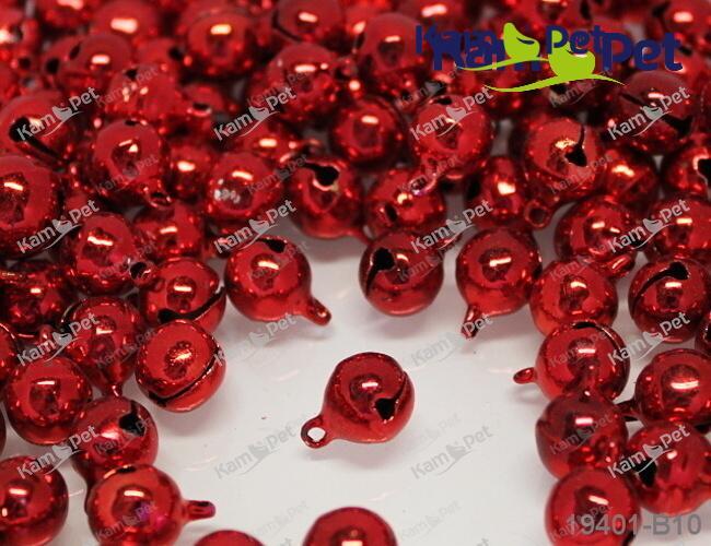 Rolničky červené Ø10mm, balení 10ks