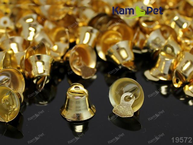 Zvonečky ZLATÉ 14mm, balení 10ks