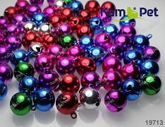 Barevné rolničky 16mm  vánoční ozdoba dekorace, balení 3ks