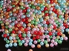 Pestrobarevný MIX korálky voskovky kuličky  5mm bal. 3g tj. cca 50ks