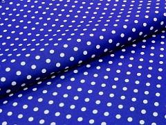 MODRÁ nivea látka s puntíky 06 puntíkované plátno ATEST DĚTI,  á 1m