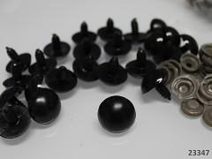 Černé bezpečnostní oči 19mm černé oči na výrobu hraček panenek, bal. 10ks