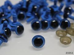Modré bezpečnostní oči 12mm modré oči na výrobu hraček panenek, bal. 10ks