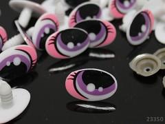 Oválné bezpečnostní oči 25mm oválné oči na výrobu hraček panenek, bal. 4ks