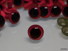 Červené bezpečnostní oči 12mm červené oči na výrobu hraček panenek, bal. 10ks