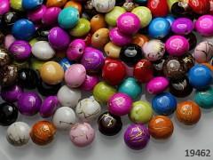 Pestrobarevné Korálky MELÍR lentilky 11/5, bal. 15ks