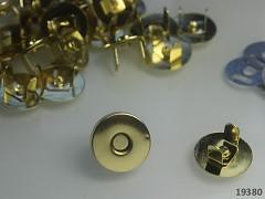 Magnetické zapínání kulaté ZLATÉ 18mm