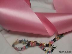 Růžová stuha atlasová 100mm široká stuha šerpa růžová