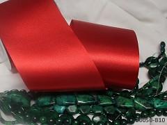 Červená stuha atlasová 100mm široká stuha šerpa červená