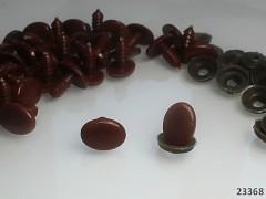 Bezpečnostní oči / čumáčky hnědé oválné 14mm  oči na výrobu hraček panenek, bal. 10ks