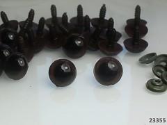 Velké bezpečnostní oči s duhovkou 19mm  oči na výrobu hraček panenek, bal. 4ks