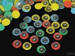 Pohyblivé barevné oči 8mm  oči na výrobu hraček panenek