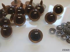 Velké bezpečnostní oči s duhovkou 25mm oči na výrobu hraček panenek, bal. 4ks