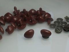Hnědé bezpečnostní čumáčky 20mm hnědé oči na výrobu hraček panenek, bal. 5ks