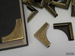 Velké kovové rohy 32mm bronz, bal. 4ks
