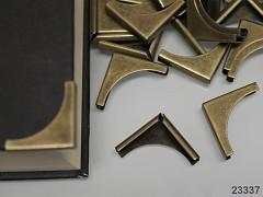 Kovové rohy 20mm bronzové, bal. 10ks