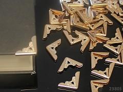 Kovové rohy 17mm měděné, bal. 10ks