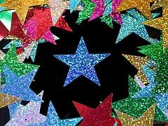 Flitry velké hvězdy hologram MIX, bal.20ks