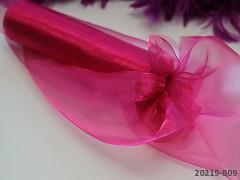Růžová cyklámová stuha dekorační organzová šerpa 16cm organza magenta