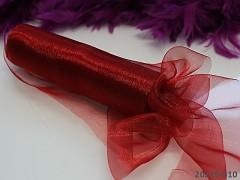 Červená stuha dekorační organzová šerpa 16cm organza červená, á 1m