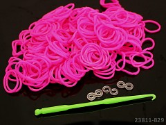 LOOM bands gumičky NEON RŮŽOVÉ 280ks+háček+spojky