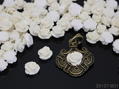 Kabošon mini květy 10/6 BÍLÉ, bal.5ks