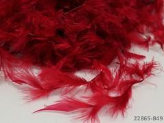 ČERVENÉ TMAVĚ peří dekorační jemná pírka jemná peří