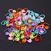 Barevné spínací špendlíky pletací 21mm plastové špendlíky na pletení, 10ks