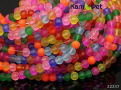 Pestrobarevný MIX korálky skleněné frost 6mm bal. 20ks