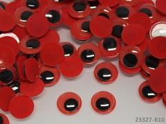 ČERVENÉ oči 12mm pohyblivé oči červené, bal. 10ks