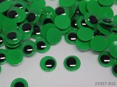 ZELENÉ pohyblivé oči 12mm oči zelené, bal. 10ks