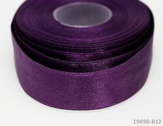 Fialová stuha atlasová PERLEŤOVÁ luxusní stuha 25mm stužka fialová tmavá