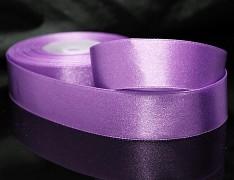 Fialková stuha atlasová PERLEŤOVÁ luxusní stuha 25mm stužka fialová světlá