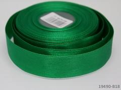 Zelená vánoční stuha atlasová PERLEŤOVÁ luxusní stuha 25mm stužka vánoční zelená