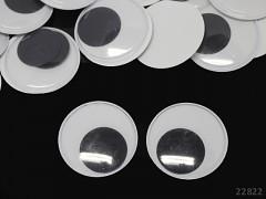 Obří pohyblivé oči 50mm / 5cm dekorační  oči na výrobu hraček panenek, bal. 2ks
