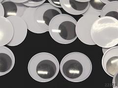 Obří pohyblivé oči 40mm / 4cm dekorační  oči na výrobu hraček panenek bal. 2ks