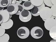 Veliké pohyblivé oči 35mm / 3,5cm dekorační  oči na výrobu hraček panenek, bal. 2ks