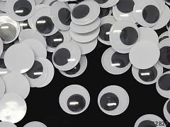 Veliké pohyblivé oči 25mm / 2,5cm dekorační  oči na výrobu hraček panenek, bal. 4ks