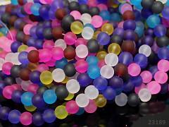 Pestrobarevný MIX korálky skleněné frost 8mm bal. 10ks