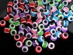 Pestrobarevný MIX korálky OČI 10mm bal. 10ks