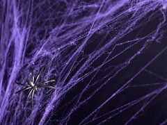 FIALOVÁ  pavučina HALLOWEEN dekorace