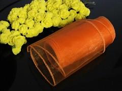 Oranožvá stuha dekorační organzová 12cm obšitá organza oranžová, role