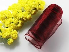 Bordó stuha dekorační organzová 12cm obšitá organza bordó, role