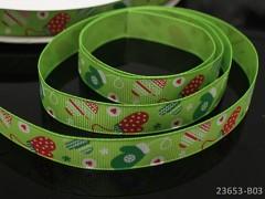 Vánoční stuha ZELENÁ / rukavičky 16mm, bal. 2m