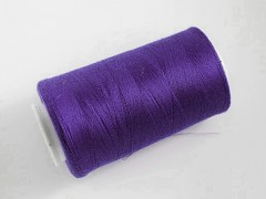 Tmavě fialové nitě PES 5000y HARD fialová niť,  1cívka koton