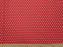 ČERVENÉ hvězdičky látka bavlna 100% plátno ATEST DĚTI,  á 1m